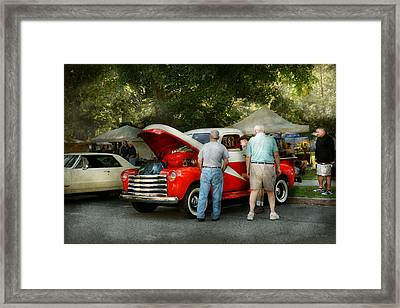Car - Guys And Cars Framed Print by Mike Savad