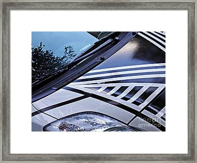 Car Hood Framed Print by Sarah Loft