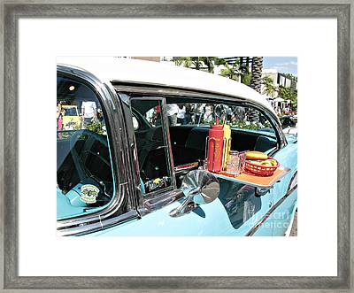 Car Hop Framed Print by Nina Prommer