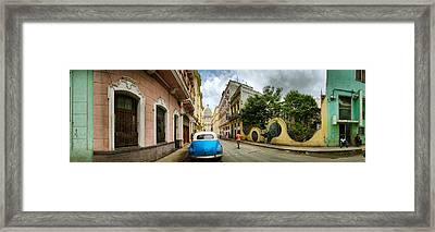 Car In A Street With A Government Framed Print