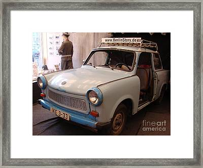 Car In Berlin Framed Print