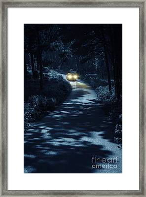 Car In The Woods Framed Print by Carlos Caetano