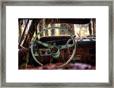 Car In The Woods Framed Print by Greg Mimbs