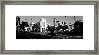 Car Moving On The Street, Rodeo Drive Framed Print by Panoramic Images