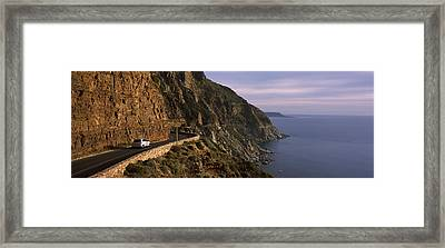 Car On The Mountainside Road, Mt Framed Print by Panoramic Images