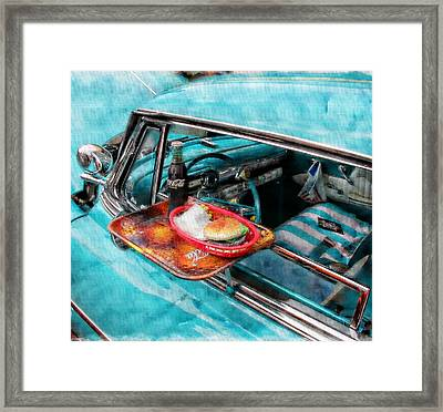 Framed Print featuring the photograph Car Side  by Aaron Berg