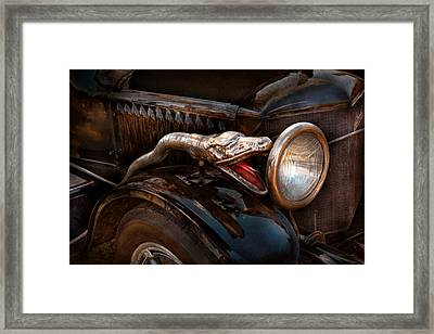 Car - Steamer - Snake Charmer  Framed Print by Mike Savad