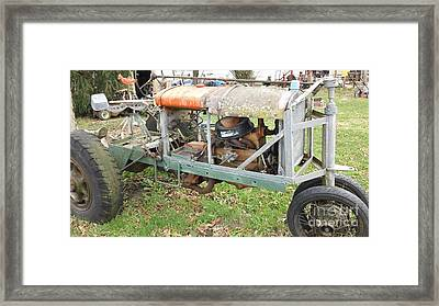 Car To Tractor Framed Print by Amanda Reinier