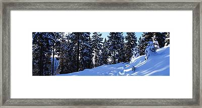 Car Tracks In Deep Snow Framed Print by Ulrich Kunst And Bettina Scheidulin