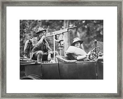 Car With Mounted Machine Gun Framed Print
