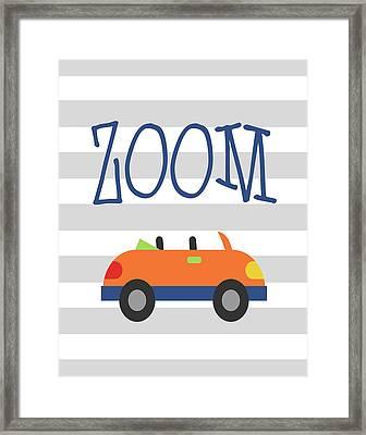 Car Zoom Framed Print by Tamara Robinson