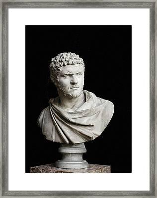 Caracalla. 212 - 217. Bust. Sculpture Framed Print by Everett
