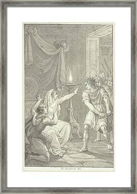 Caracalla Murdered His Brother Geta In The Bedroom Framed Print by Quint Lox