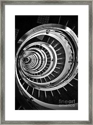 Time Tunnel Spiral Staircase In Sao Paulo Brazil Framed Print