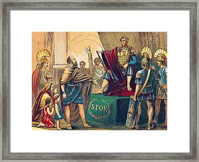 Caractacus Before Emperor Claudius, 1st Framed Print by British Library