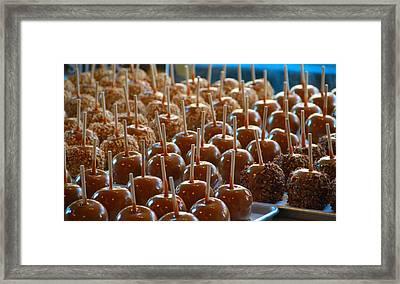 Caramel Apples Framed Print