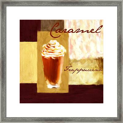 Caramel Frap Framed Print by Lourry Legarde