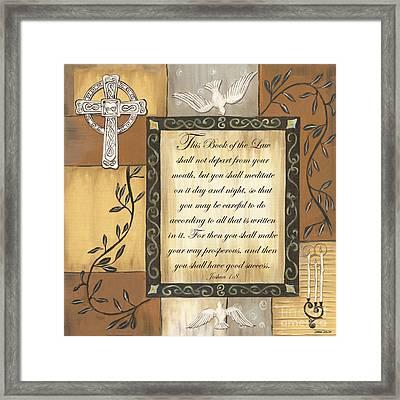 Caramel Scripture Framed Print