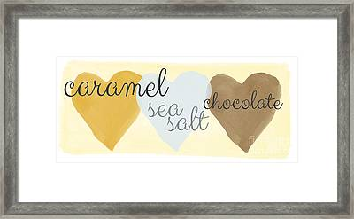 Caramel Sea Salt And Chocolate Framed Print by Linda Woods
