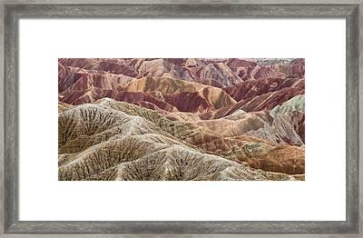 Caramelized Landscape Framed Print