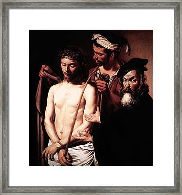 Caravaggio Eccehomo Framed Print by Caravaggio