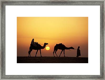 Caravan Morocco Framed Print by Panoramic Images