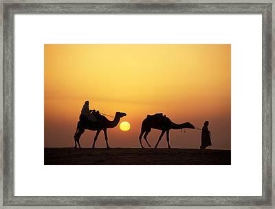 Caravan Morocco Framed Print