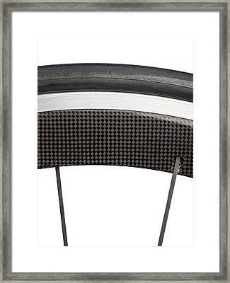 Carbon Fibre Bicycle Wheel Framed Print