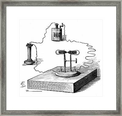 Carbon Microphone Framed Print by Universal History Archive/uig