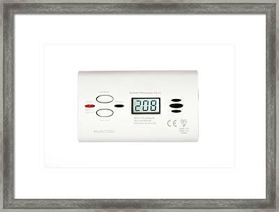 Carbon Monoxide Alarm Framed Print by Cordelia Molloy