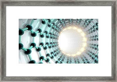 Carbon Nanotube Framed Print by Animate4.com/science Photo Libary