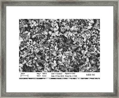 Carbon Nanotube Material Framed Print