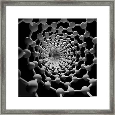 Carbon Nanotube Framed Print