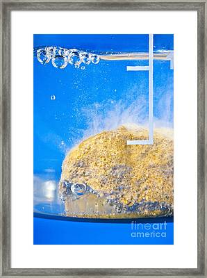 Carbonate-acid Reaction Framed Print by Martyn F. Chillmaid
