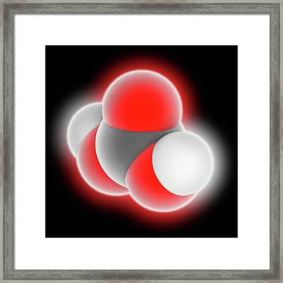 Carbonic Acid Molecule Framed Print