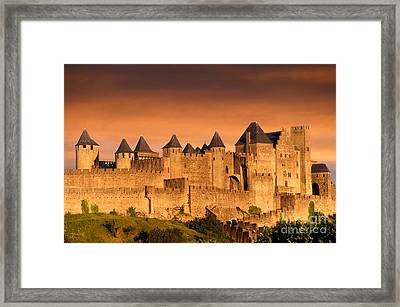 Carcassonne. Aude. France. Europe Framed Print by Bernard Jaubert