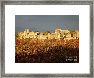 Carcassonne In Fall Framed Print