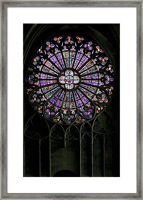 Carcassonne Rose Window Framed Print