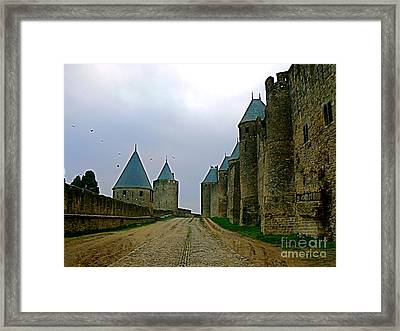 Carcassonne Walls Framed Print