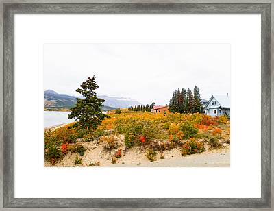 Carcross Bungalows Framed Print