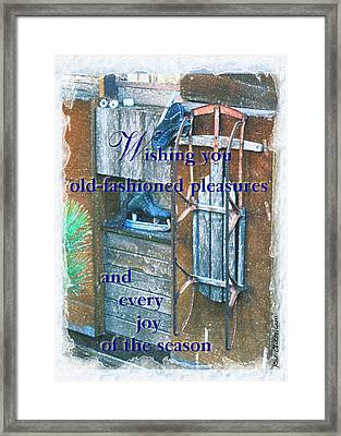Card For The Winter 2 Framed Print by Kae Cheatham