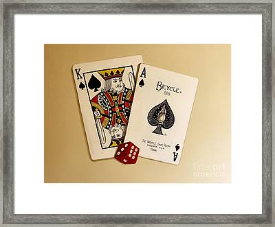 Card Game Room Mural Framed Print