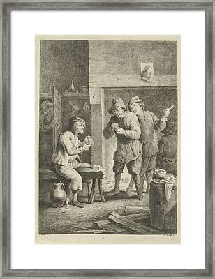 Card Players, Jan Lauwryn Krafft Framed Print by Quint Lox