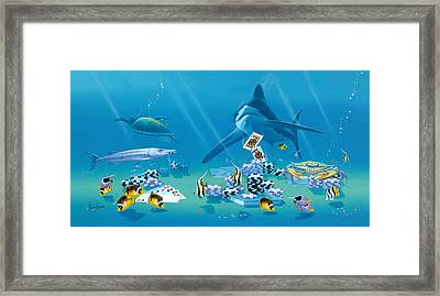 Card Shark Framed Print