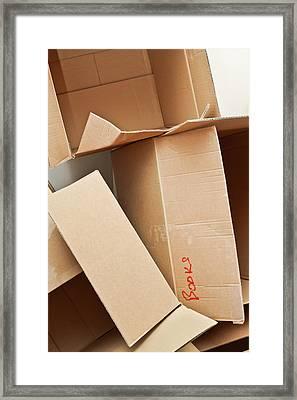 Cardboard Boxes Framed Print by Tom Gowanlock