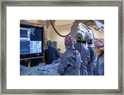 Cardiac Catheterization Framed Print