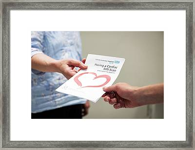 Cardiac Mri Pamphlet Framed Print by John Cairns Photography/oxford University Images