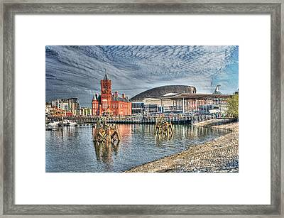 Cardiff Bay Textured Framed Print