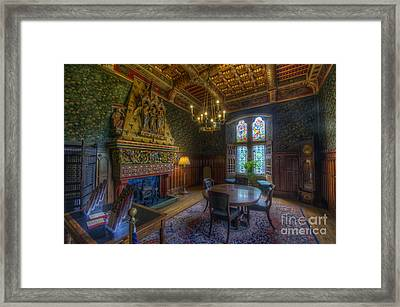 Cardiff Castle Apartment Dining Room Framed Print by Yhun Suarez