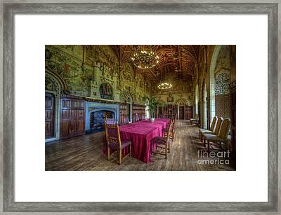 Cardiff Castle Dining Hall Framed Print